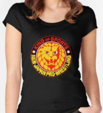 NJPW New Japan Pro Wrestling Women's Fitted Scoop T-Shirt
