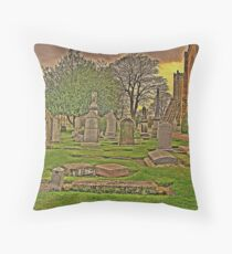 Dunfermline Abbey grave yard Throw Pillow