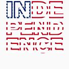 Independence Outline by HandDrawnTees