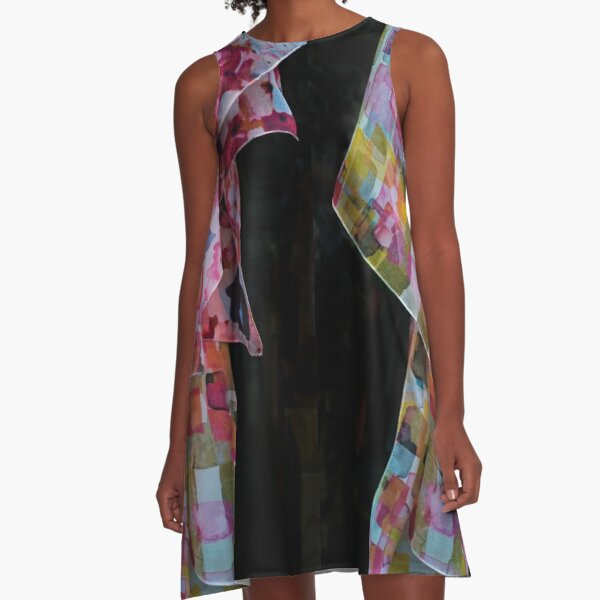 Auf Sendung A-Linien Kleid