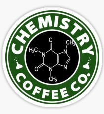Chemistry Coffee Co. (Caffeine Molecule) Sticker