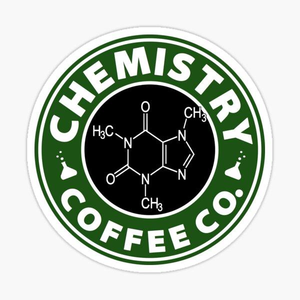 Chemistry Coffee Co. (Caffeine Molecule) Sticker
