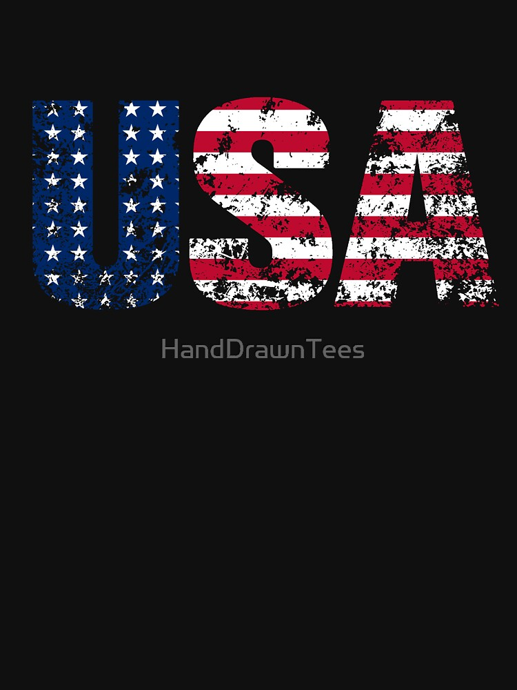 USA Distressed by HandDrawnTees