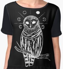 Witchy owl Chiffon Top