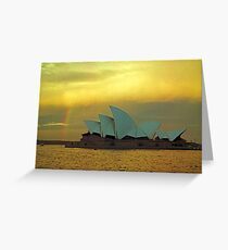 big house little rainbow.....  for Paul Keating esq..... Greeting Card