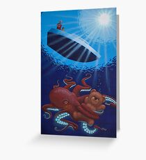Mr. Octopus Has Teddy Now Greeting Card