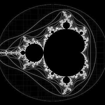 White - Linear Mandelbrot by rupertrussell