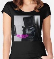 """""""Gay Rights"""" -BabaDook 2017 Women's Fitted Scoop T-Shirt"""