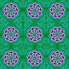 Spider Eye Mandala - Green BG by melasdesign