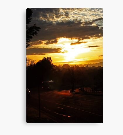 Bus At Dawn Canvas Print