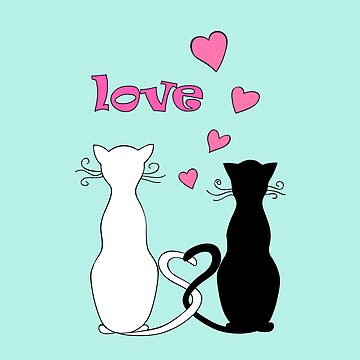 couple cats with love by AlinNova