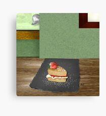 Sponge Cake Canvas Print