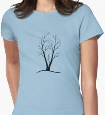 A Two-trunked Tree Womens Fitted T-Shirt