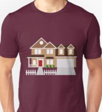 House with Two Car Garage Color Illustration T-Shirt
