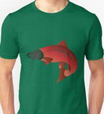 Coho Salmon Color Illustration Unisex T-Shirt