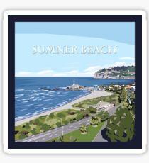 Sumner Beach, NZ by Ira Mitchell-Kirk Sticker