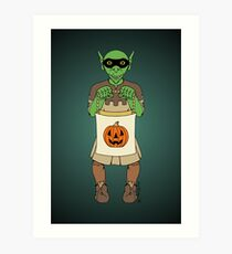 Trick-or-Treating Goblin Art Print