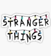 Stranger Things Fairy Lights Sticker
