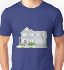 House Sold with For Sale Sign Color Illustration T-Shirt