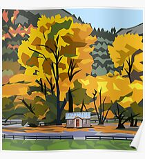 Arrowtown Gold Poster