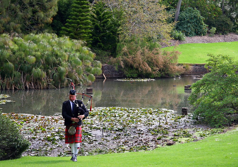 Piping by the lake by Lambros