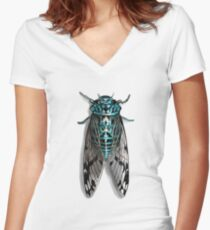 Cicada Women's Fitted V-Neck T-Shirt