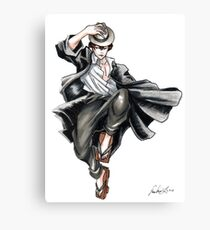 Detective Fisherman Man Canvas Print