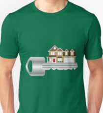 Key to the New House Color Illustration T-Shirt