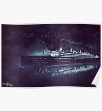 Titanic and Iceberg | Painting Poster