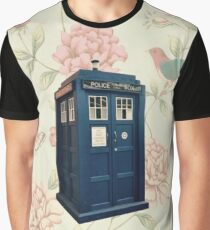 The Tardis Floral Graphic T-Shirt