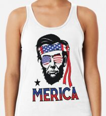 cb5909860e6d7e Merica - Funny Abe Lincoln 4th of July Hip American T-shirt Women s Tank Top
