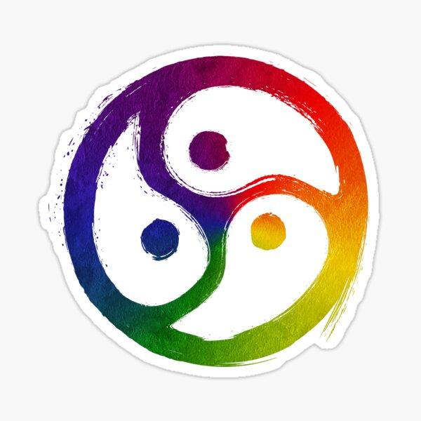 BDSM Triskelion LGBT Pride Rainbow Sticker