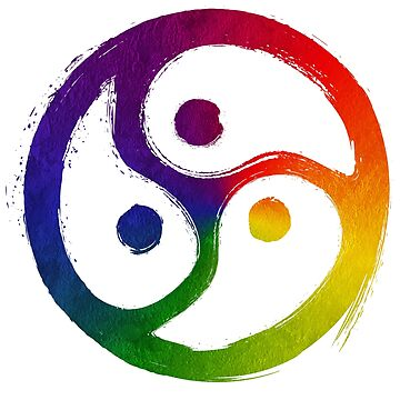 BDSM Triskelion LGBT Pride Rainbow by WingMarks
