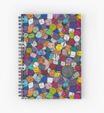 Gamer Dice Spiral Notebook