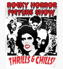 Rocky Horror Picture Show Cartoon rote Lippen Poster