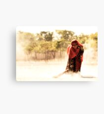 Daily dust Canvas Print