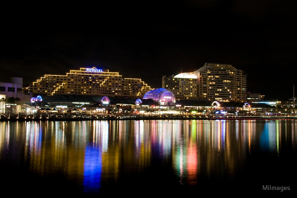 Darling Harbour Reflections by MiImages