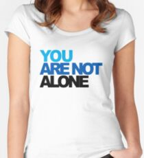 You Are Not Alone - Dear Evan Hansen Women's Fitted Scoop T-Shirt