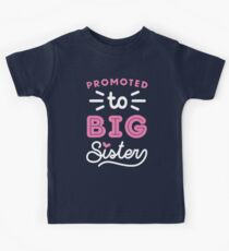 Big Sister Shirt Promoted To Big Sister Quote Baby Toddler Infants and Adult Sizes Kids Clothes