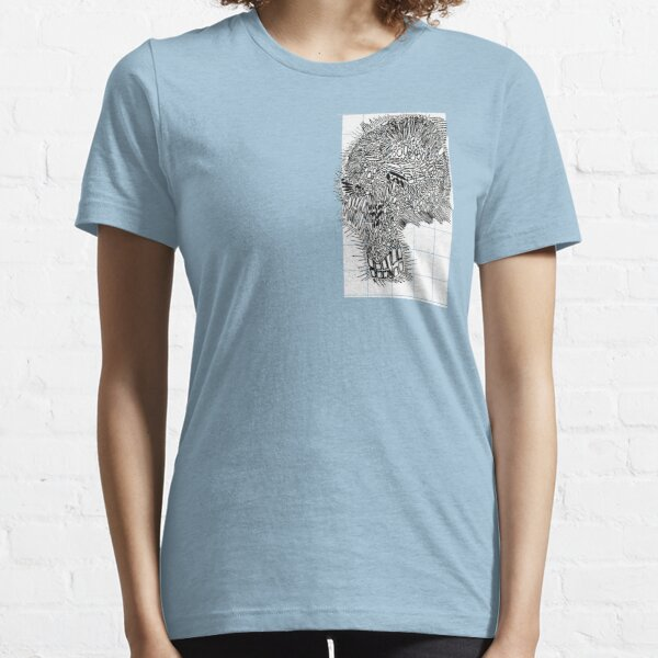 Cell Skull on Graph Paper, hh5art Essential T-Shirt