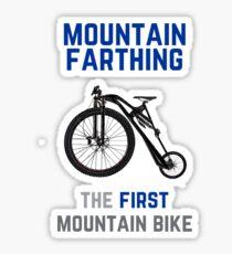 The First Mountain Bike: the mountain farthing Sticker