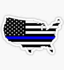 Dünne blaue Linie Sticker
