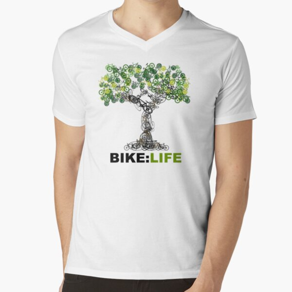 BIKE:LIFE tree V-Neck T-Shirt