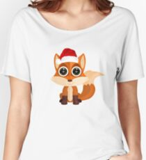 Christmas Fox Women's Relaxed Fit T-Shirt