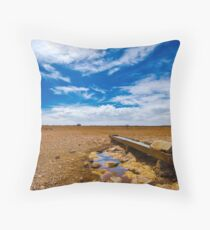Dry Earth Farming Throw Pillow