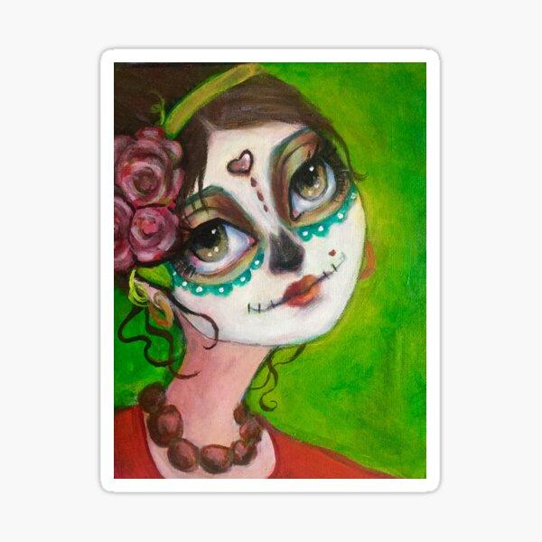 Dia de Los muertos beauty  Sticker
