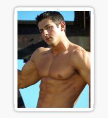 Elite Male Fitness Model - A446 Sticker