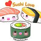 Sushi Love by beaglecakes