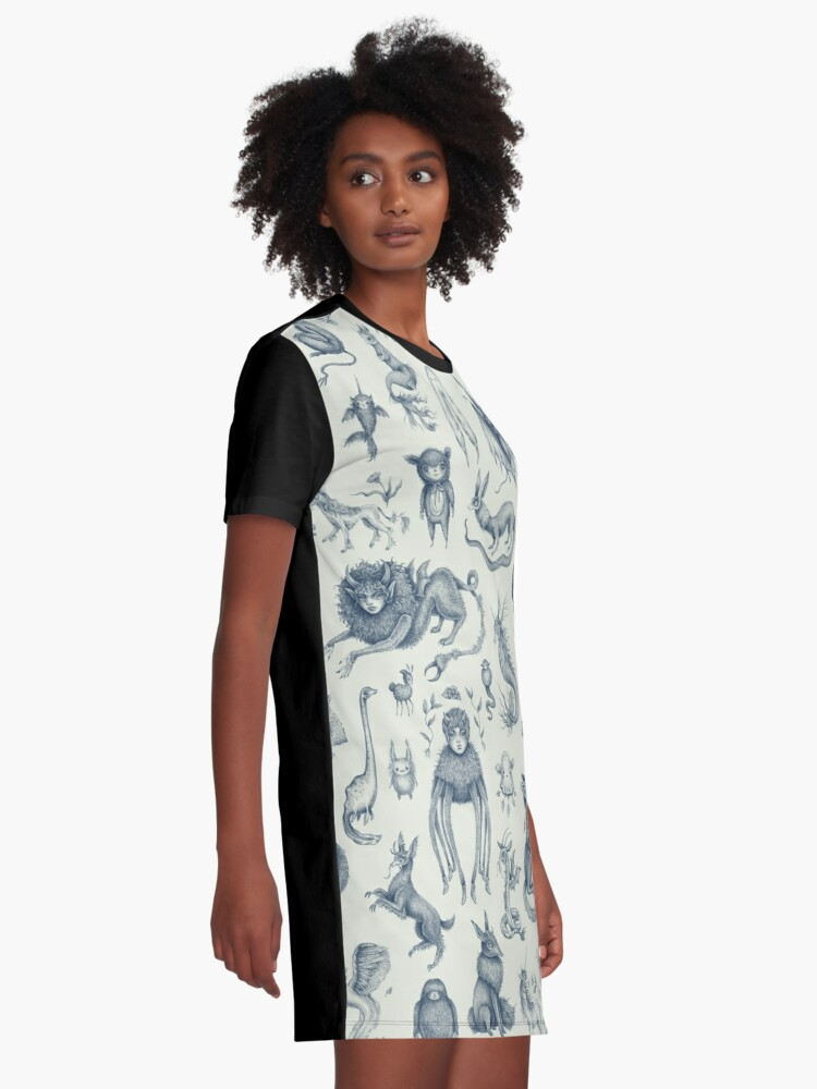 Alternate view of Beings and Creatures  Graphic T-Shirt Dress
