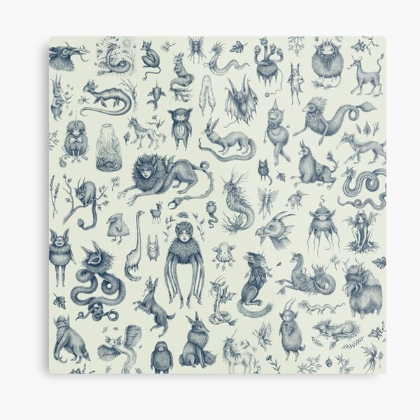 Beings and Creatures  Metal Print